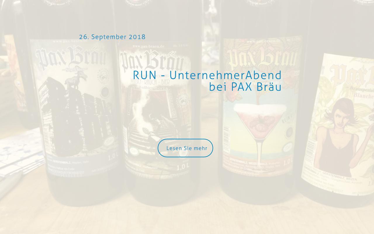 UnternehmerAbend bei der Brauerei PAX Bräu
